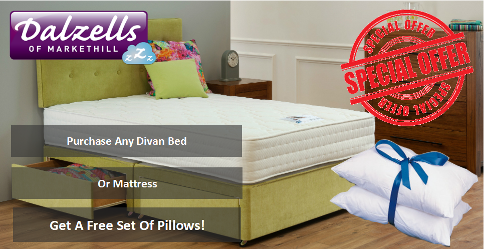 Free Pillow Set Promotion - With Any Divan Bed Or Mattress