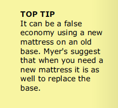Bed Base Top Tip